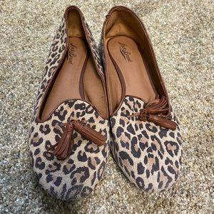 Cheetah print lucky brand flats